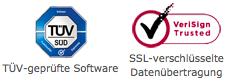 TÜV geprüft und SSL verschlüsselt